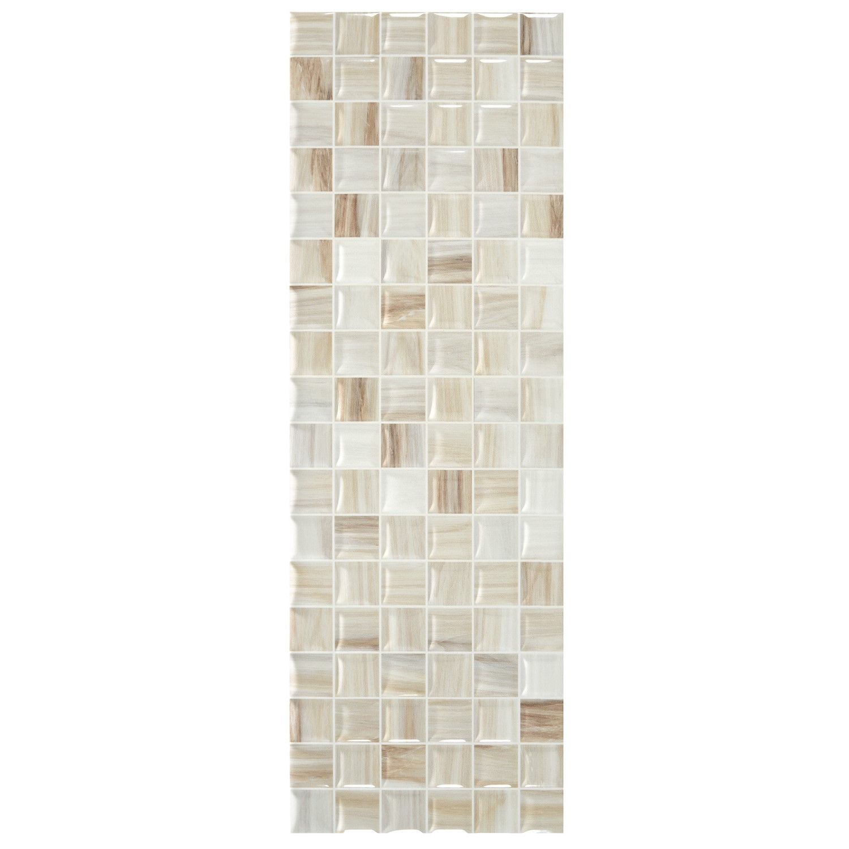 Faianta baie / bucatarie mozaic Smila Blanco lucioasa alba 20 x 60 cm