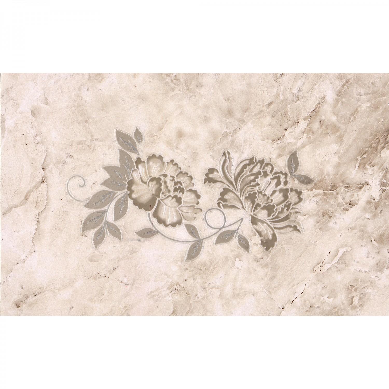 Decor faianta baie / bucatarie Madeira 2642-0476 floral bej lucios 25.2 x 40.2 cm