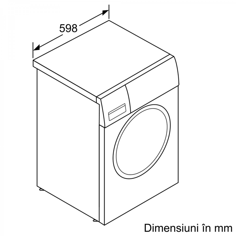 Masina de spalat rufe Bosch WAN28261BY, 7 kg, 1400 rpm, clasa A+++, adancime 55 cm, tehnologie EcoSilence Drive, alb