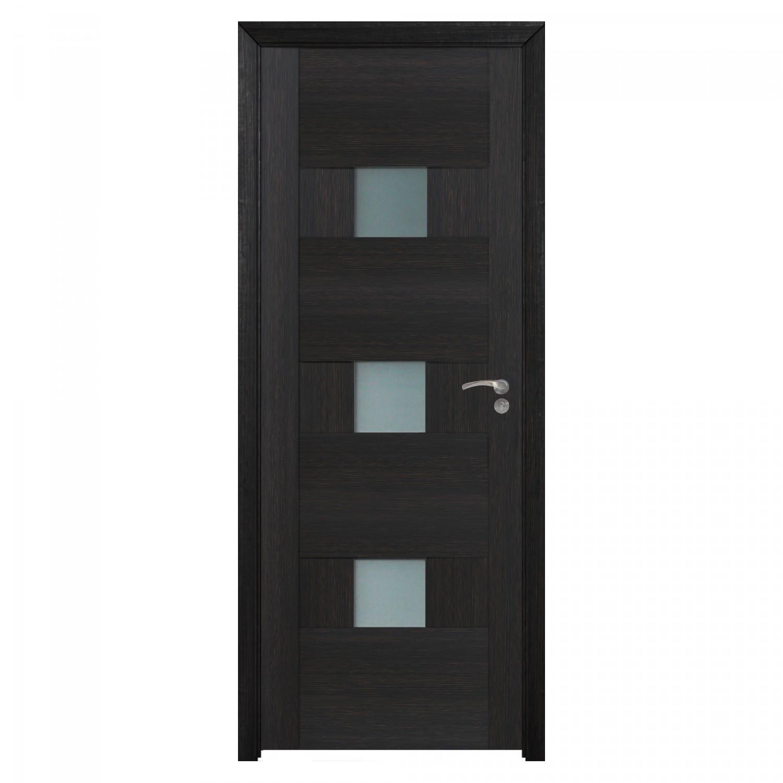 Usa de interior din lemn cu geam BestImp G5-78-W stanga / dreapta wenge 203 x 78 cm