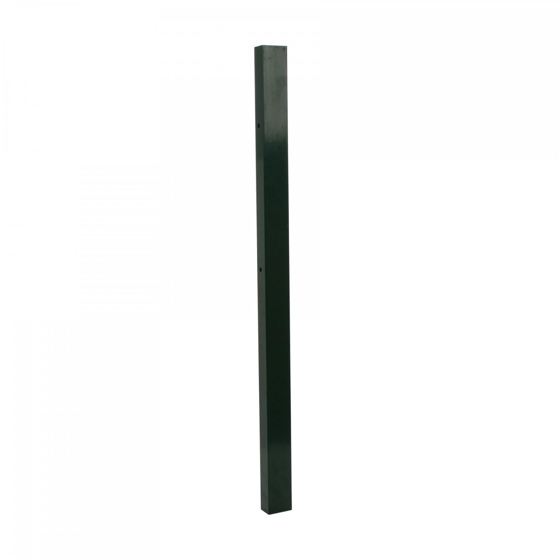 Stalp de gard drept, verde, 1 m 60 x 40 mm