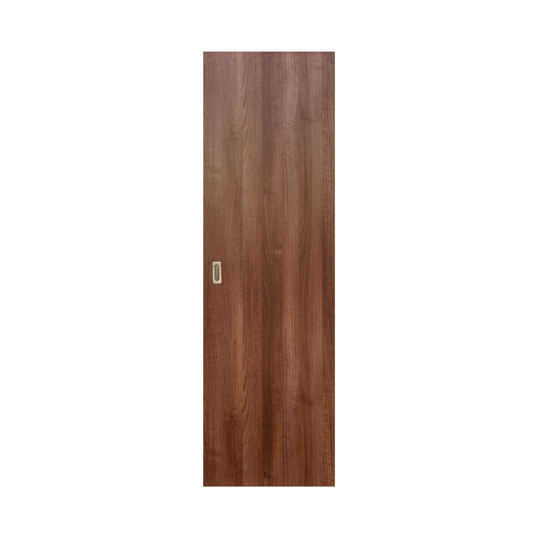 Usa culisanta Eco Euro Doors, plina, nuc, 85 x 206 cm + maner ingropat