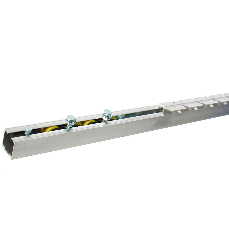 Sistem culisare usa, aluminiu, 5 orificii montare, 1.9 m