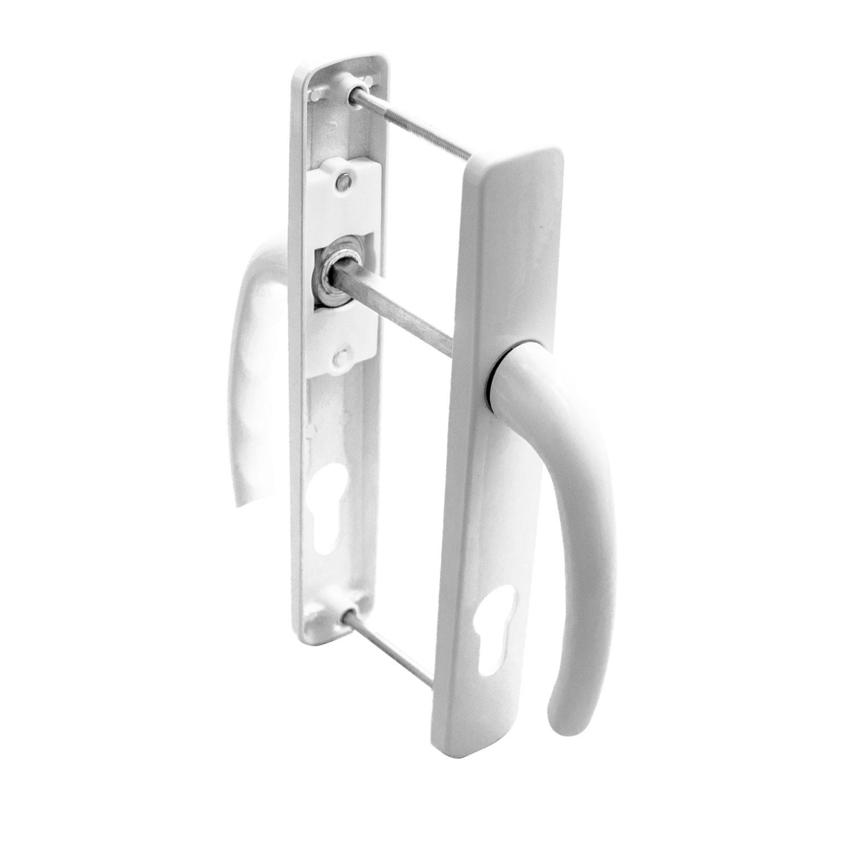 Maner usa exterior, cu arc, Safir, alb, 85 mm, 230 x 25 mm