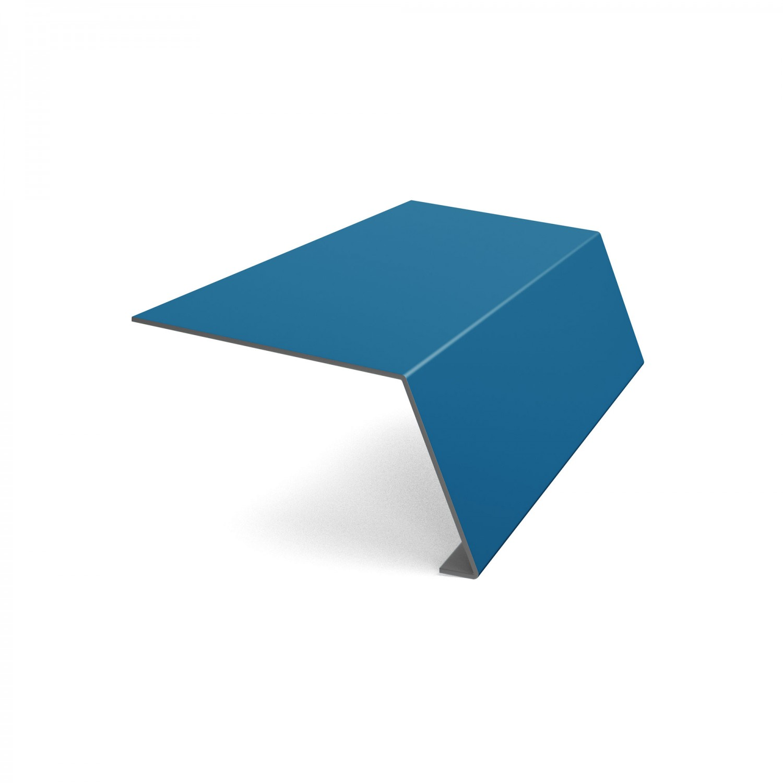Bordura streasina Baudeman, albastru lucios (RAL 5010), 0.45 mm