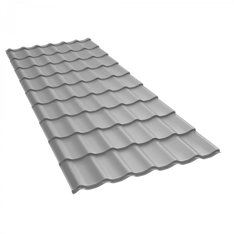Tigla metalica Baudeman Clasic 35, argintiu lucios (RAL 9006)