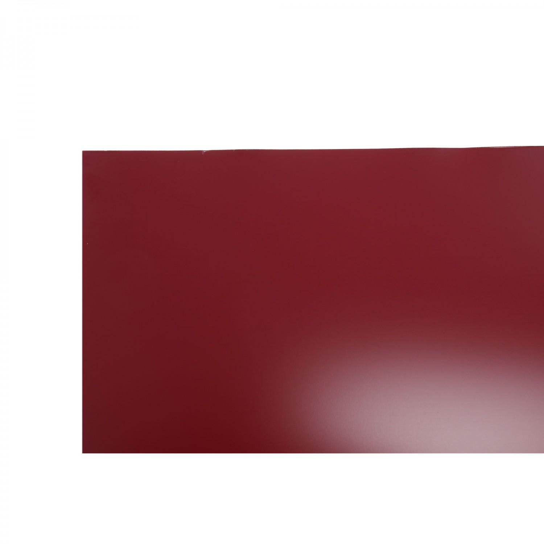 Tabla plana Bilman, rosu lucios (RAL 3011), 2000 x 1250 x 0.4 mm