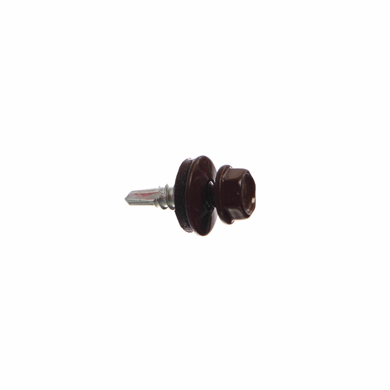 Surub pentru tigla metalica, autoforant, Bilka, maro RAL 8017, 4.8 x 19 mm, 250 bucati