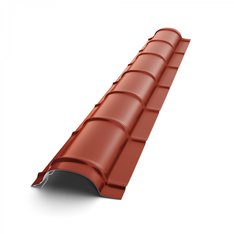 Coama mica Baudeman, rosu maroniu lucios (RAL 3009), 2000 x 230 x 0.45 mm