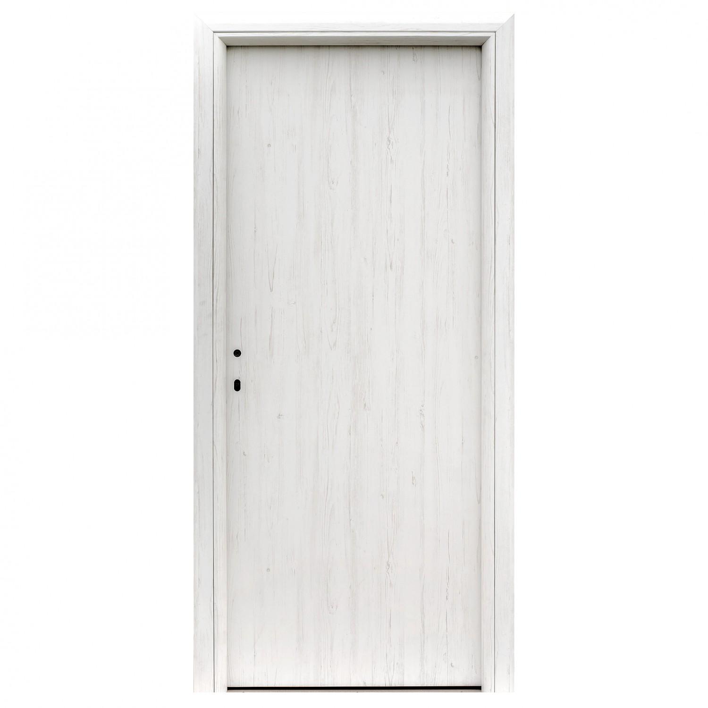 Usa interior celulara, Eco Euro Doors R80 Doina, dreapta, alb, 202 x 66 x 4 cm cu toc rotunjit