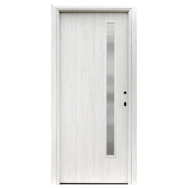 Usa interior celulara cu geam, Eco Euro Doors R80 Doina, stanga, gol II, alb, 202 x 86 x 4 cm cu toc rotunjit