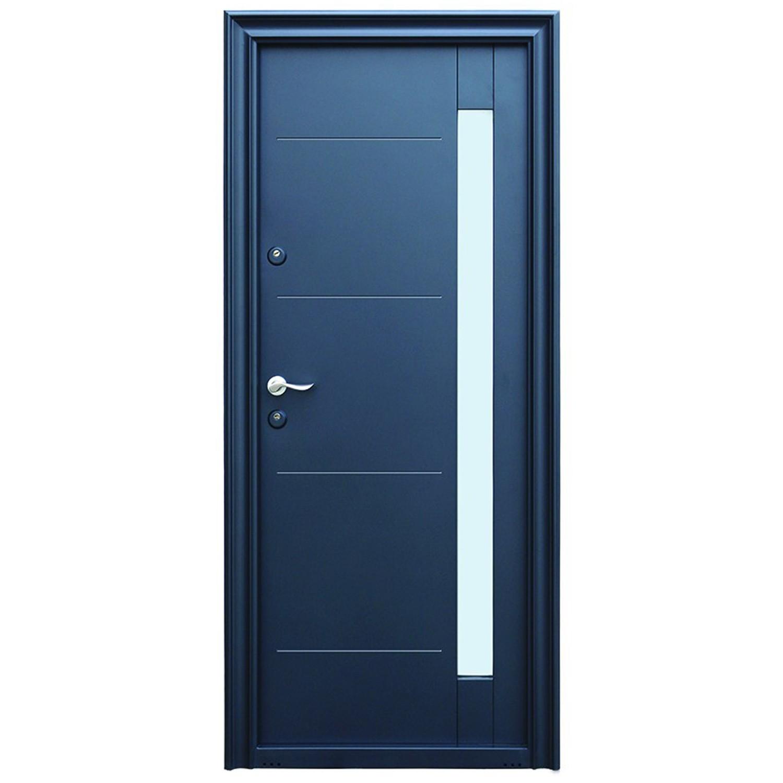 Usa metalica pentru exterior Tracia Pontus, dreapta, diverse culori, 205 x 88 cm + accesorii