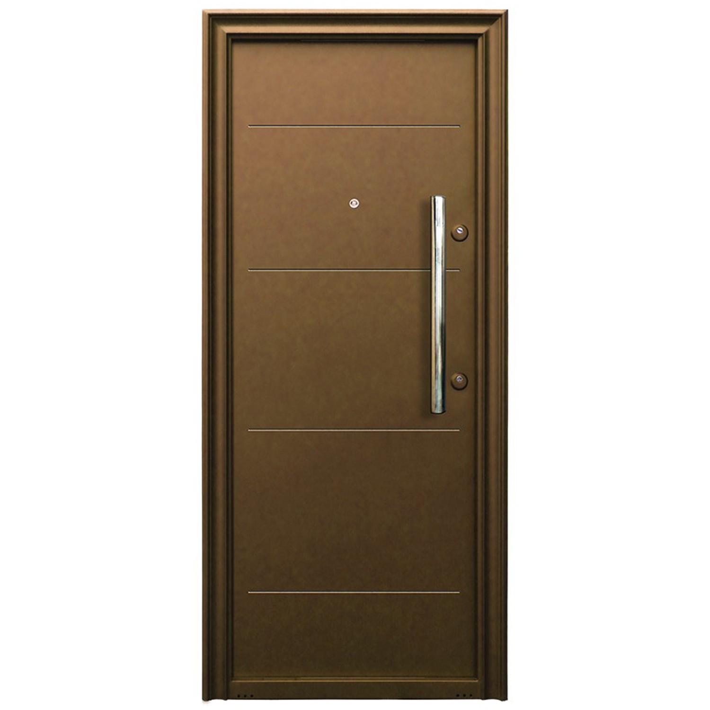 Usa metalica pentru exterior Tracia Traiana, stanga, diverse culori, 205 x 88 cm + accesorii