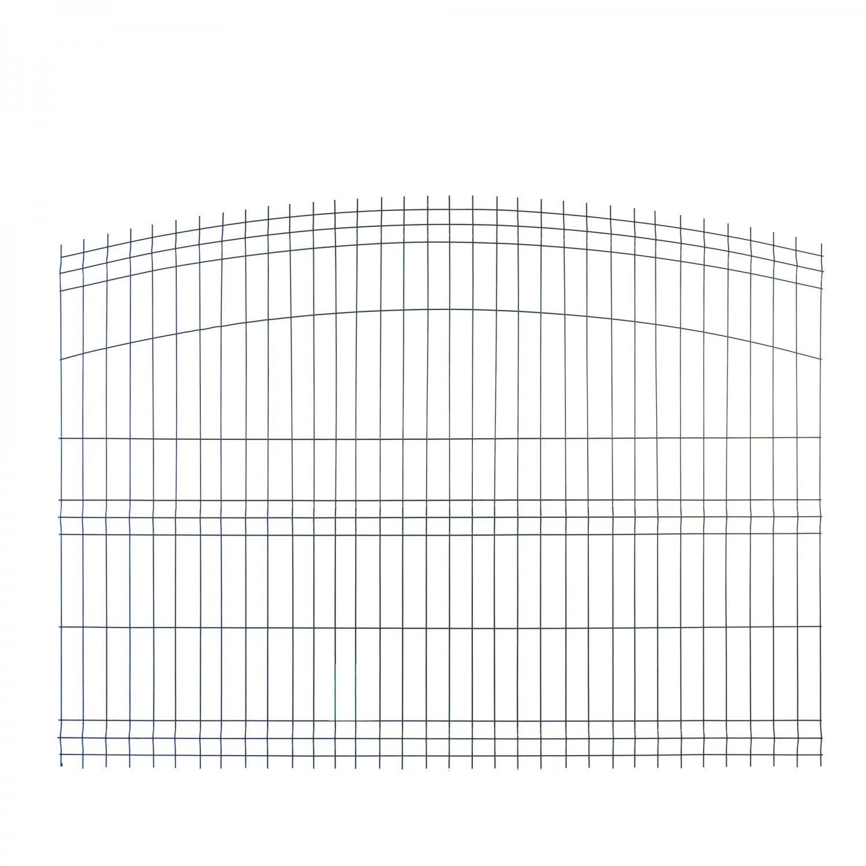 Panou gard zincat arcuit verde 1500 x 2000 mm