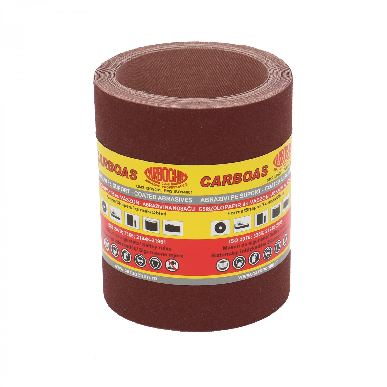 Rola panza abraziva pentru lemn, metale, constructii, Carbochim PESK, granulatie 150, rola 5 m x 120 mm