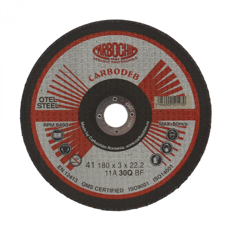 Disc debitare otel, Carbochim 11ABACH1TRS, 180 x 22.2 x 3 mm