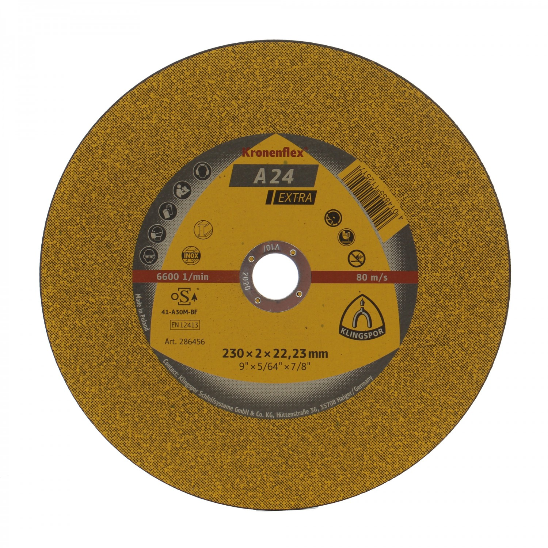 Disc debitare metale, Klingspor A 24 Extra, 230 x 22.23 x 2 mm