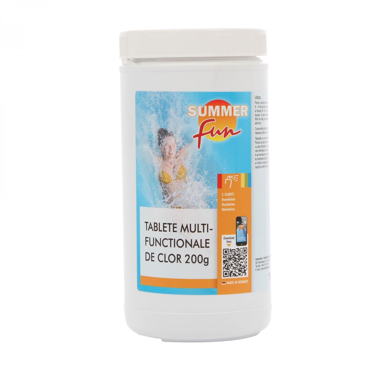 Clor multifunctional tablete de 200 grame, Summer Fun, pentru apa piscina, 1 kg