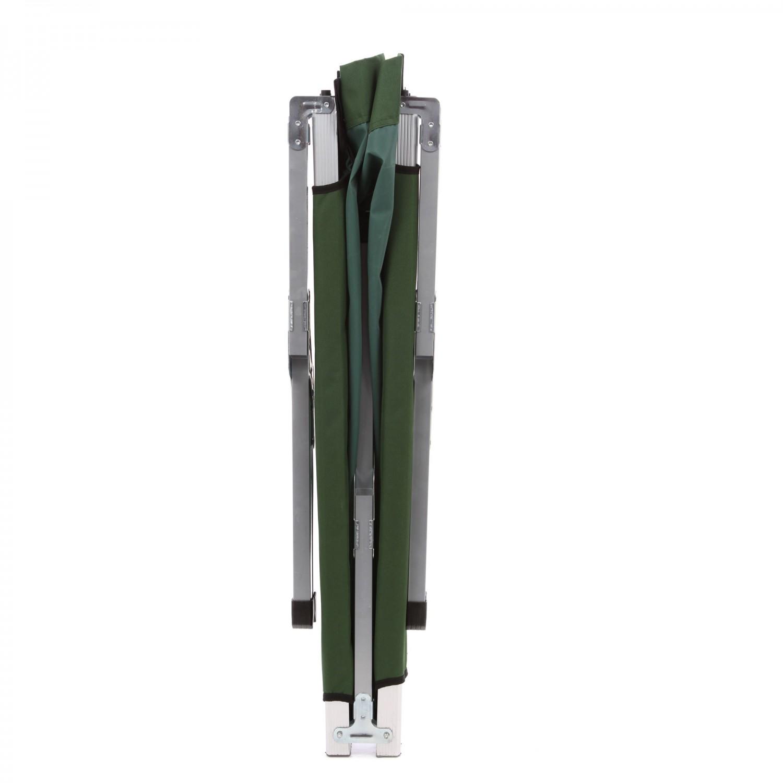 Pat camping pliant 711018 structura metalica verde 190  x  65  x  42 cm