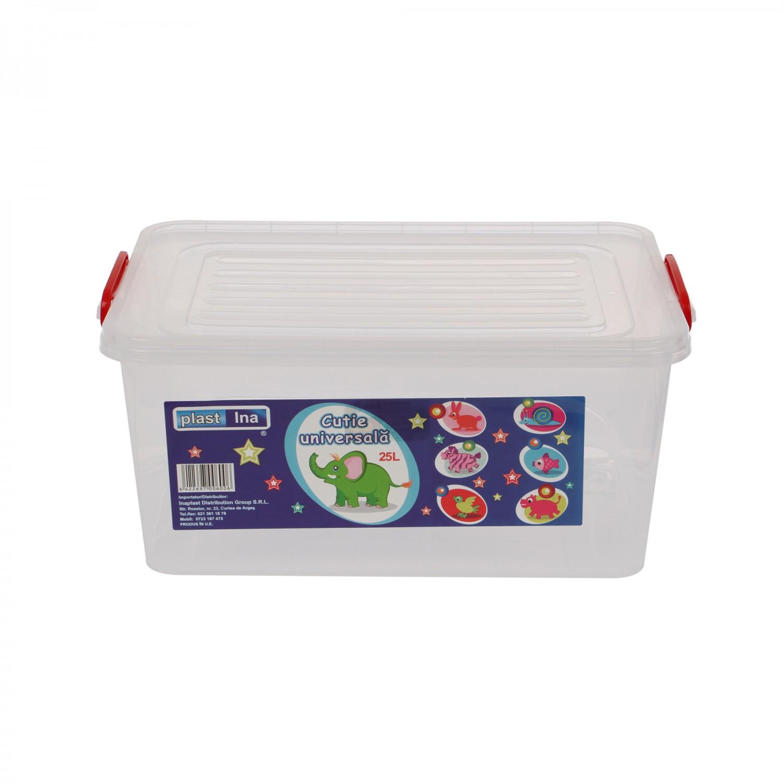 Cutie universala pentru alimente, select, plastic, dreptunghiulara, transparenta, 25 L