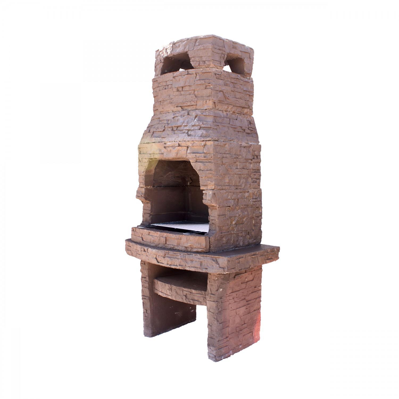 Gratar gradina, cu carbuni, Kolosa, fix, din beton