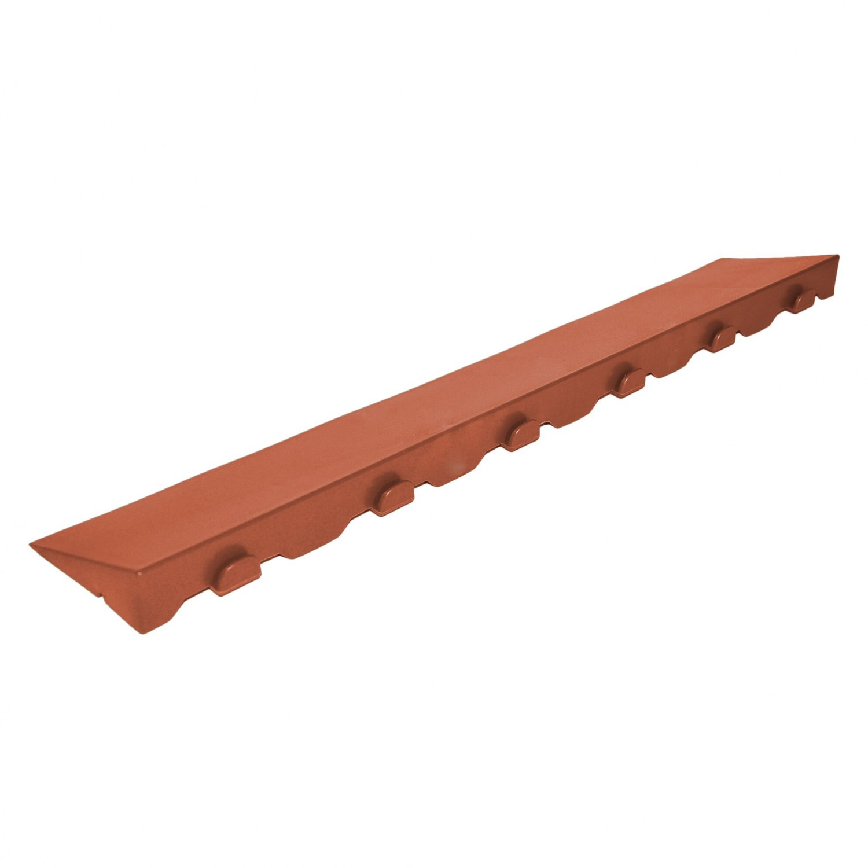 Element inchidere pardoseala exterior, PVC, caramiziu, M, 40 x 10 cm