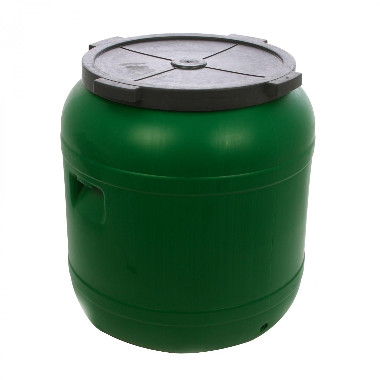 Butoi plastic Dolplast, cu capac, verde 485 litri