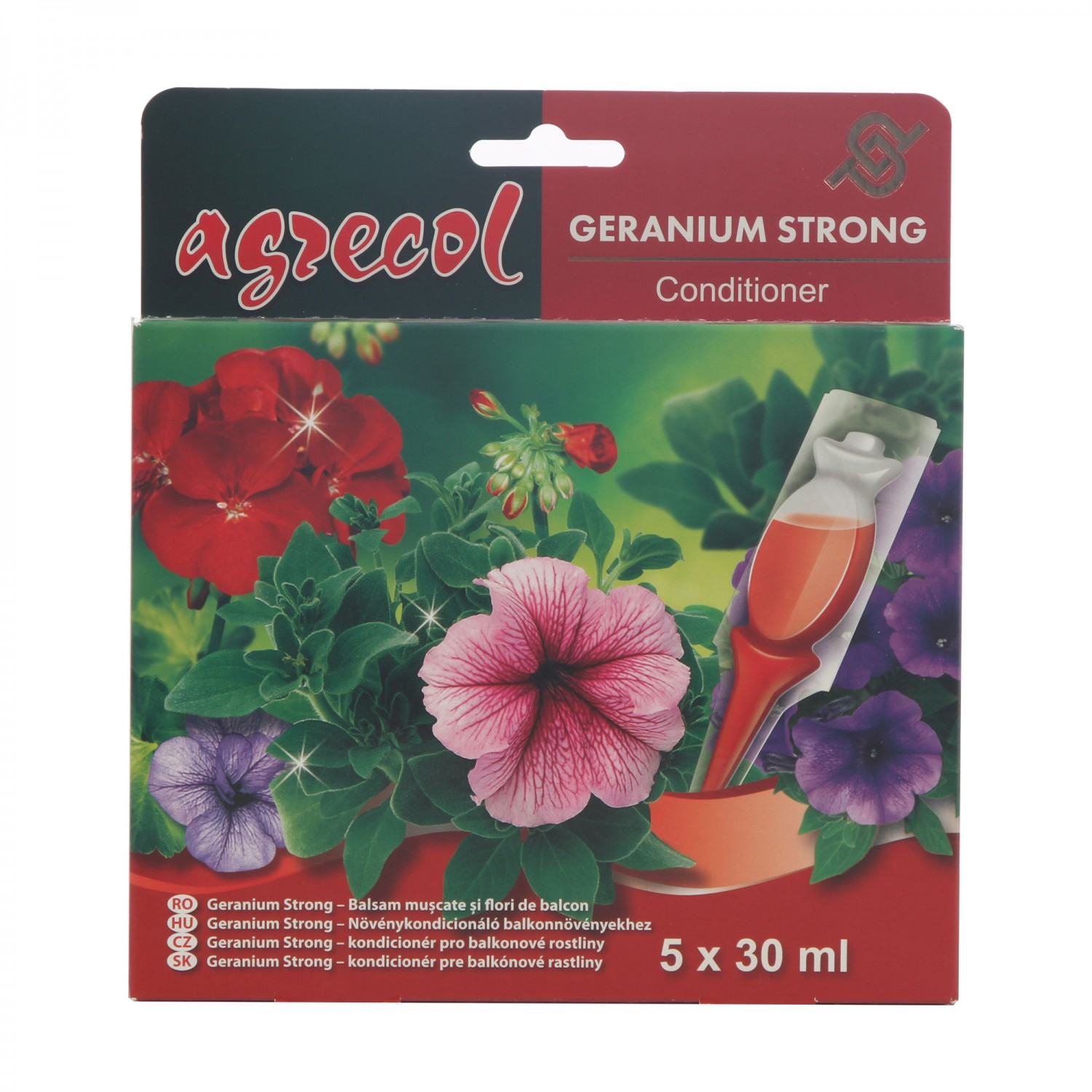 Ingrasamant pentru muscate Agrecol Strong, lichid, 5 x 30 ml