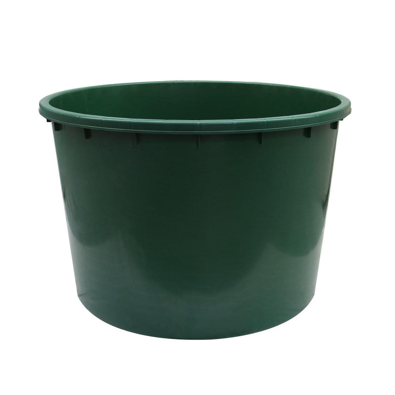 Butoi plastic Dolplast, fara capac, verde 750 litri