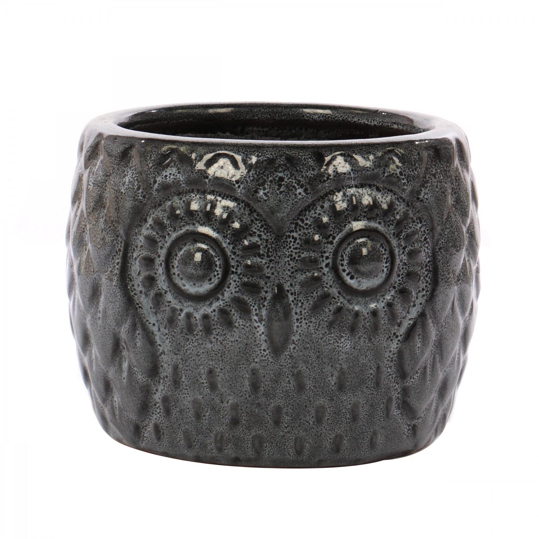 Ghiveci ceramic, negru blossom, 35 x 27 cm