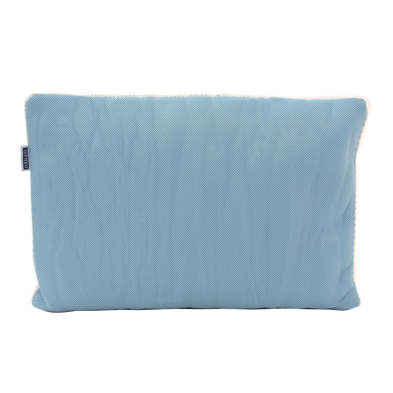 Perna pentru dormit, set 2 bucati, Dormeo Siena Pillow microfibra Wellsleep + microfibra Softdream alb cu albastru 50 x 70 cm