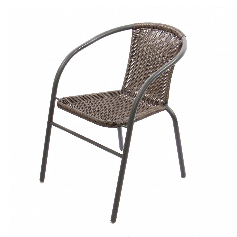 Set masa cu 2 scaune pentru gradina Bistro 331.280 din metal cu ratan sintetic