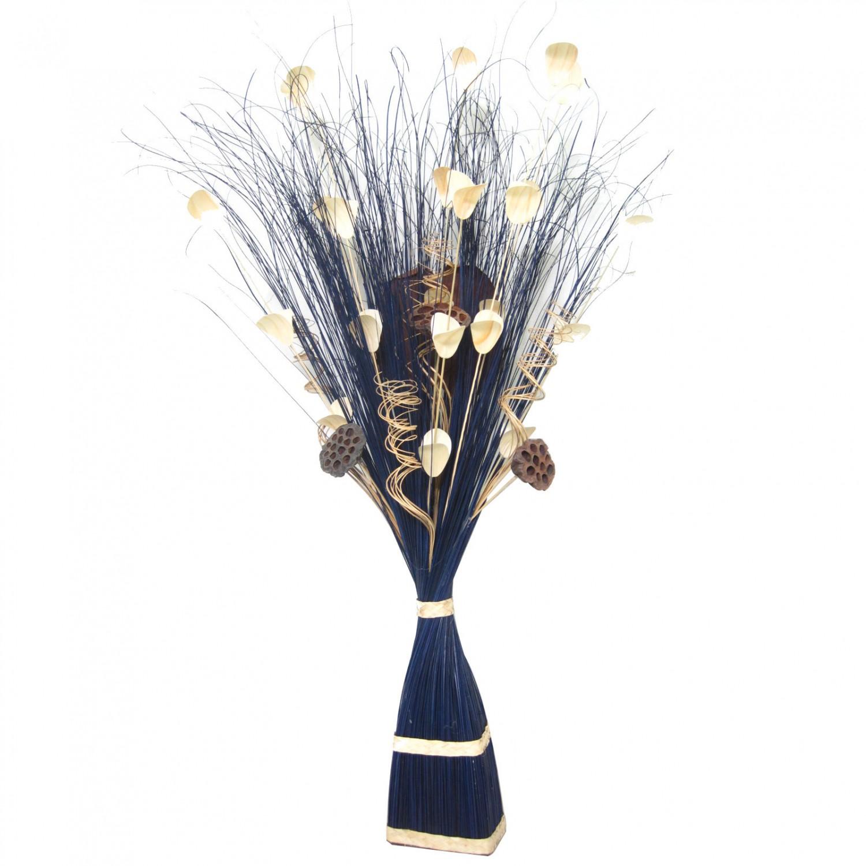 Flori uscate, 215 AR 35700, 100 cm, albastru + maro