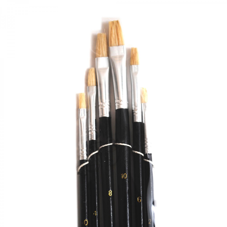 Set 6 pensule pictura tempera