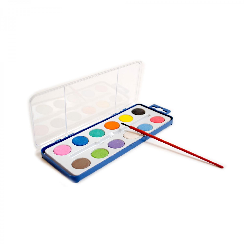 Set acuarele 12 culori + pensula Giotto