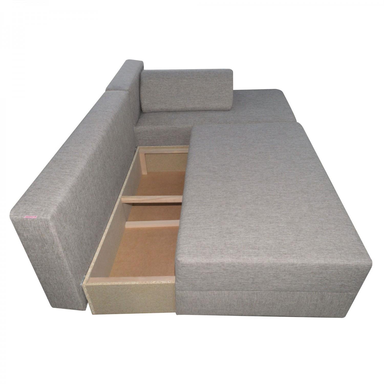 Coltar living extensibil pe stanga Anca II, cu lada, bej, 212 x 137 x 75 cm, 3C
