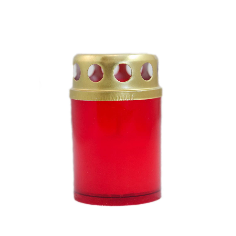 Candela decorativa M2ECO, plastic + capac metal, h 7 cm, timp ardere 10 ore, 3 bucati/set