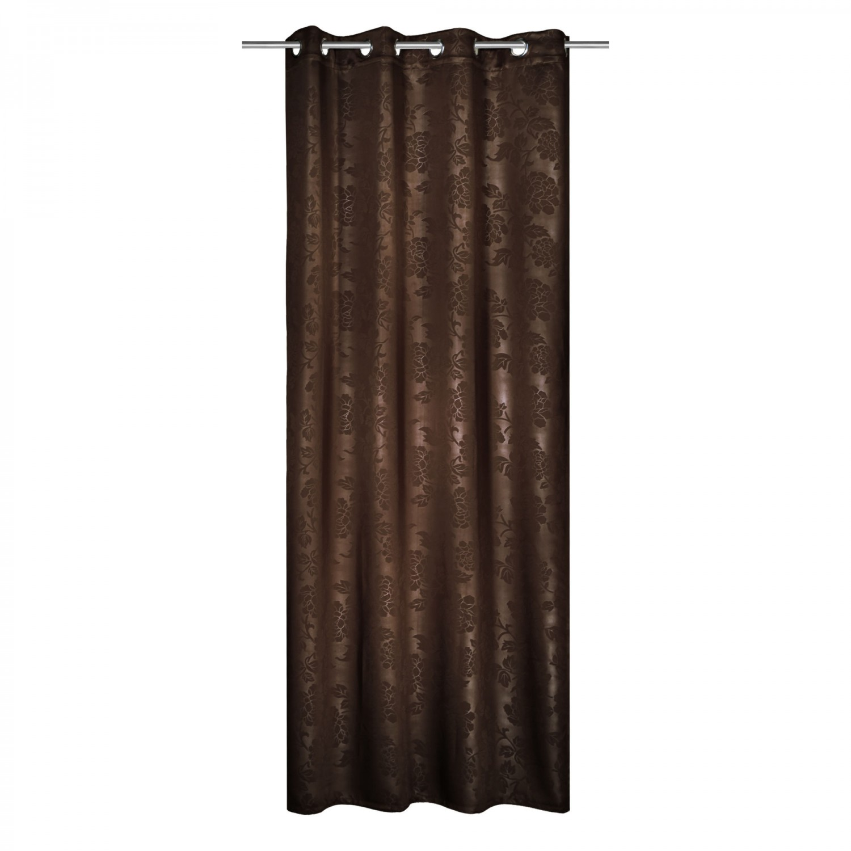 Draperie Blackout 268960, cu inele, din poliester, maro, h 245 cm, l 135 cm