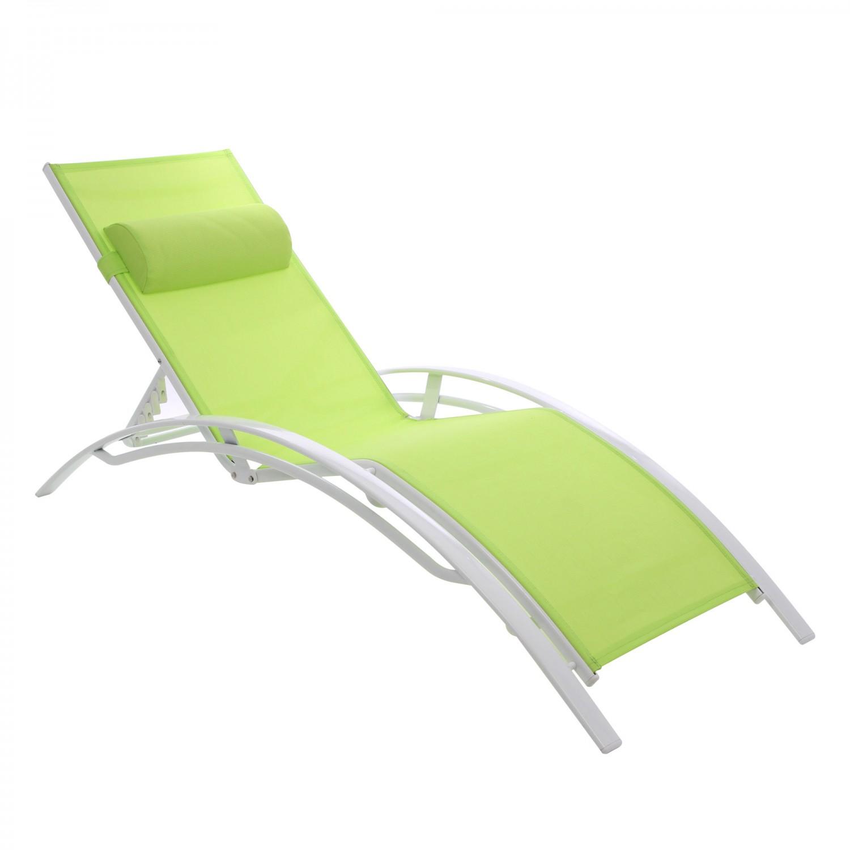 Sezlong plaja AF-1201C spatar pliabil structura metal verde