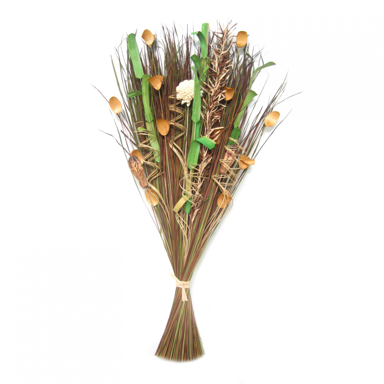 Flori uscate, 116 AR 36166, 100 cm, maro + verde