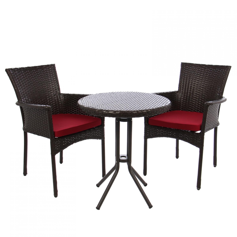 Dedeman set masa cu doua fotolii cu perne pentru gradina for Masa cu scaune dedeman