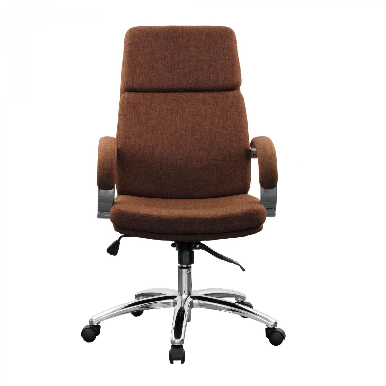 Scaun birou directorial Alpha, rotativ, material textil, maro