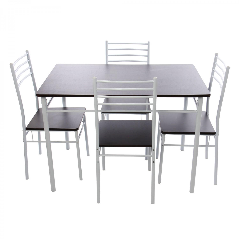 Dedeman set masa fixa cu 4 scaune bucatarie ds25049m wenge for Masa cu scaune dedeman