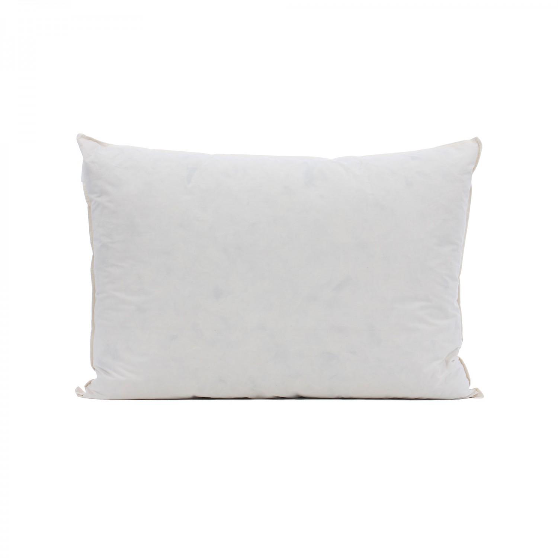 Perna pentru dormit Bedora puf si pene gasca + bumbac cu poliester alb 50 x 70 cm