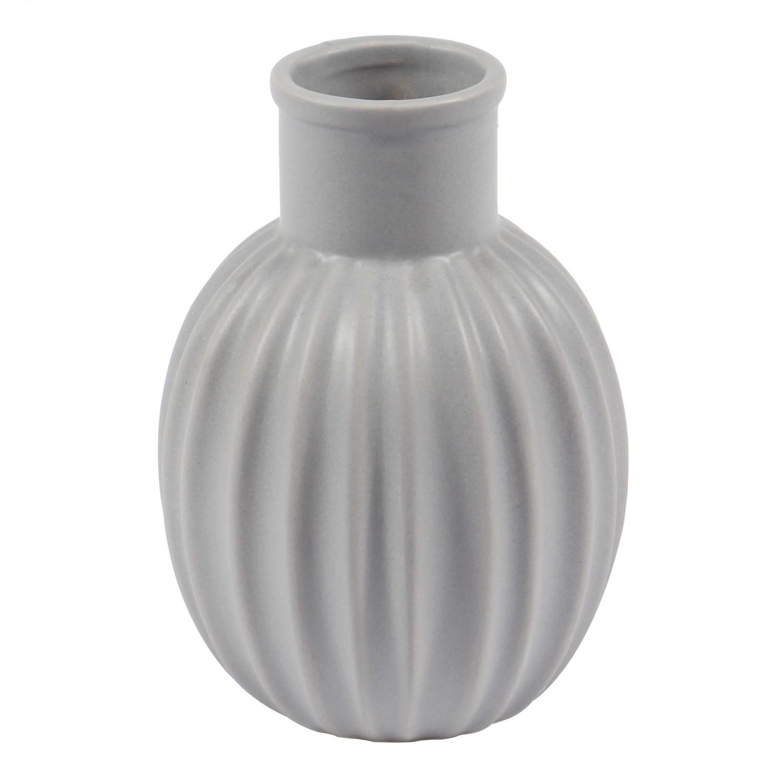 Vaza decorativa 90908 117, gri, 13 cm