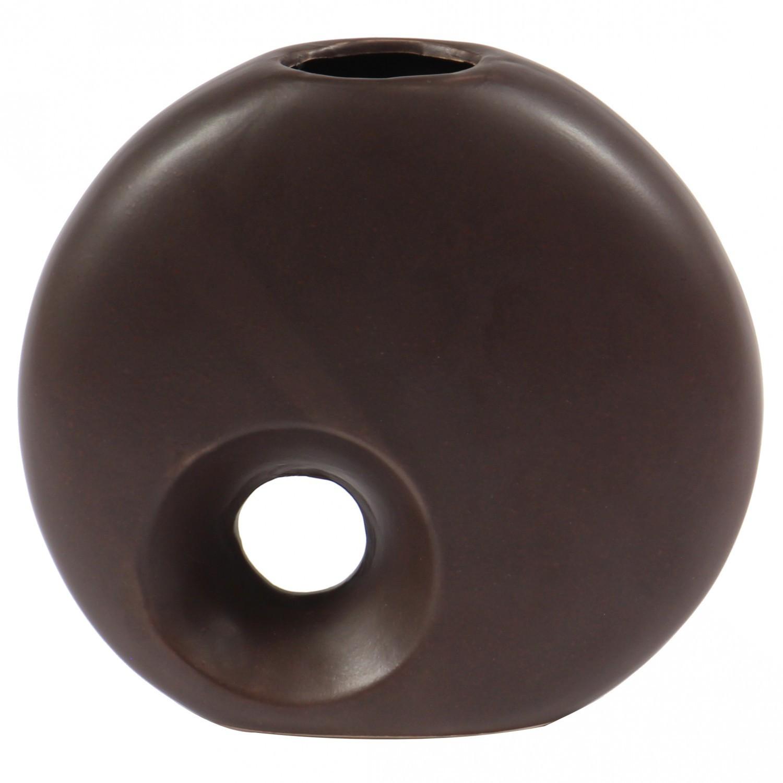 Vaza decorativa 91910 117, maro, 17 cm