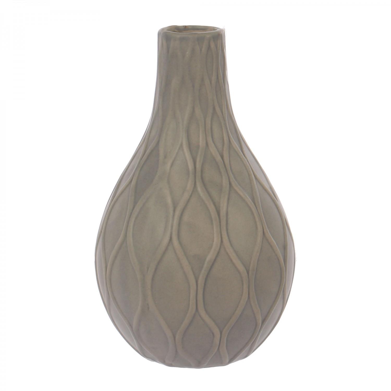 Vaza decorativa 0124, gri mat, H 21 cm