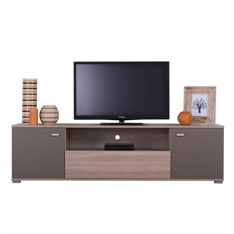 Comoda TV Amos TV3P, stejar sonoma + latte, 160 x 42 x 43.5 cm, 1C