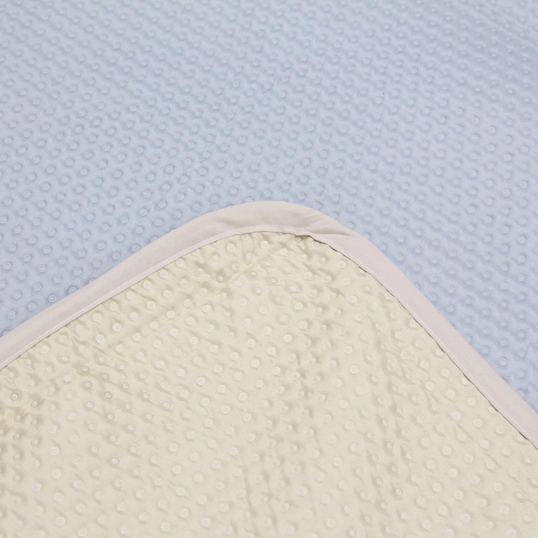 Set cuvertura cu 2 fete perna Aurora blue + beige