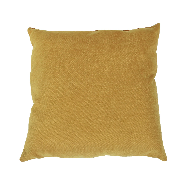 Perna decor Hazan 152, maro, poliester + fibra poliester siliconizata, 43 x 43 cm